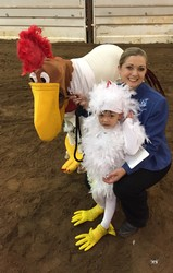 Foghorn Leghorn and his chick!